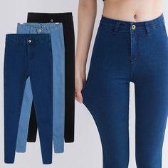 30390ef269f27 Aliexpress.com  Comprar 2015 recién llegado de primavera verano mujeres  venta al por mayor de cintura alta Jeans Denim mujer pantalones lápiz  pantalones ...