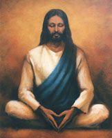 Jesus meditating.