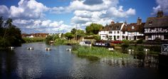 Tewkesbury on the River Avon