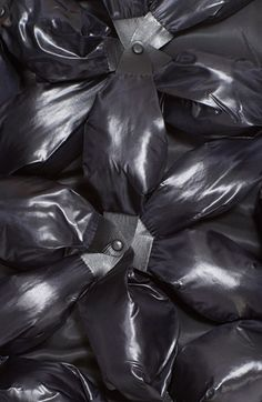 Fabric Manipulation - studded floral 3D applique for heavy texture; innovative textiles for fashion // Noir Kei Ninomiya