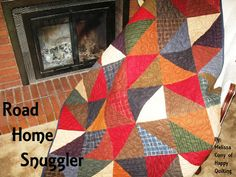 Happy Quilting: Road Home Snuggler - idea for JT, he loves flannel