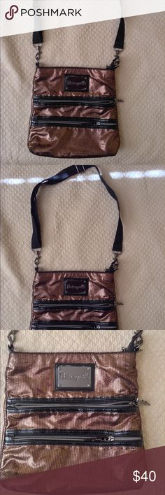 ❤️Betsey Johnson Crossbody❤️ Excellent condition. Brown sequins all over, to zipper pockets in the front. And adjustable crossbody strap. Betsey Johnson Bags Crossbody Bags