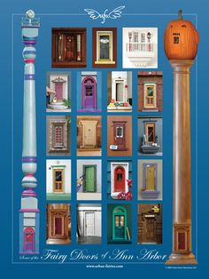 Urban Fairies, Fairy Doors of Ann Arbor Poster
