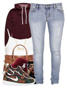 """""""12615"""" by polyvoreitems5 ❤ liked on Polyvore featuring Topshop, MICHAEL Michael Kors, Standard Jean Co and NIKE"""