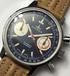 Rare Vintage DUGENA *Soccer* Chronograph 3752 MS Valjoux 7733 Panda Dial Watch!    eBay