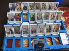 takeandsealit:    saints guess who SOOO COOL. you can download a pdf to print out the cards and stick them in your own game of guess who.