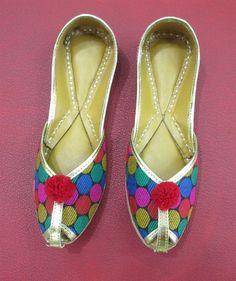 Multi Color Polka Dots Womens Flat Shoes Women by BeautyShop21