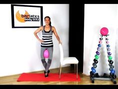 FREE Barre workout with Ball - Lower Body Barre with Ball BARLATES BODY BLITZ - YouTube