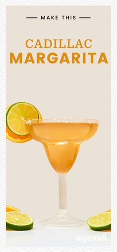 While a standard Cadillac Margarita is often made with any old premium tequila, the best one to choose is a reposado. This style of tequila works particularly well with the orange flavors in the Grand Marnier, a Cognac-based orange liqueur. Cadillac Margarita Recipe, Margarita Recipe For A Crowd, Pitcher Margarita Recipe, Margarita Recipes, Cocktail Recipes, Cocktail Drinks, Drink Recipes, Flavored Tequila, Tequila Tasting