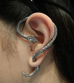 Summer Style Snake/Cat Ear Cuff Earrings Punk Earings Clip On Earrings Ear Cuffs For Women Earcuff Jewelry Clips For The Ears Snake Earrings, Snake Jewelry, Clip On Earrings, Stud Earrings, Cuff Jewelry, Animal Earrings, Rock Jewelry, Cheap Earrings, Hang Jewelry