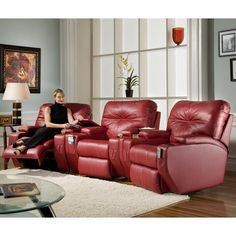 Southern Motion offers American-made motion furniture, from classic reclining furniture sets to the revolutionary SoCozi recliner. Fine Furniture, Furniture Making, Furniture Sets, Furniture Design, Suburban Furniture, Furniture Mall Of Kansas, Theater Recliners, Home Theater Seating, Affordable Furniture