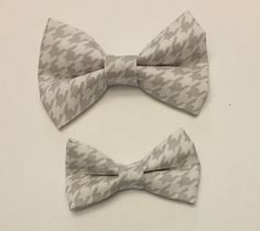 1537aa9ea66d Houndstooth Bow Tie, Father Son Matching Bow Ties, Wedding Bow Tie, Ring  Bearer