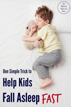 Struggling to get your kids to fall asleep? Here's one tip to try. I can't wait to see if it works.