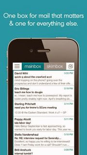 Skimbox -Smart email for busy people. Important mail goes into mainbox, rest in Skimbox! #iPhone #iPad #Email #App