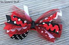 Ribbon bow - in Halloween colors for the mini witch hat headband