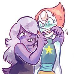 pearl and amethyst
