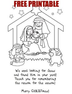 Looking for Jesus in your yard ~ activity  (When you are driving around, looking at lights)