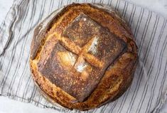 This recipe is as no-knead as it gets. The result is a loaf with impressive volume, a mahogany crust, and a tight interior crumb. recipes artisan king arthur How to make no-knead sourdough bread Sourdough Recipes, Sourdough Bread, Bread Recipes, Starter Recipes, Rye Bread, Flour Recipes, Apple Recipes, Pizza Recipes, Baking Recipes