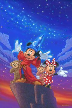 Mickey and Friends: By Manuel Hernandez, Disney Fine Art