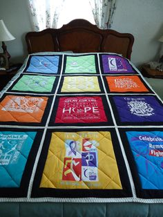 T-shirts quilts- I'm gonna have to make one of these!!