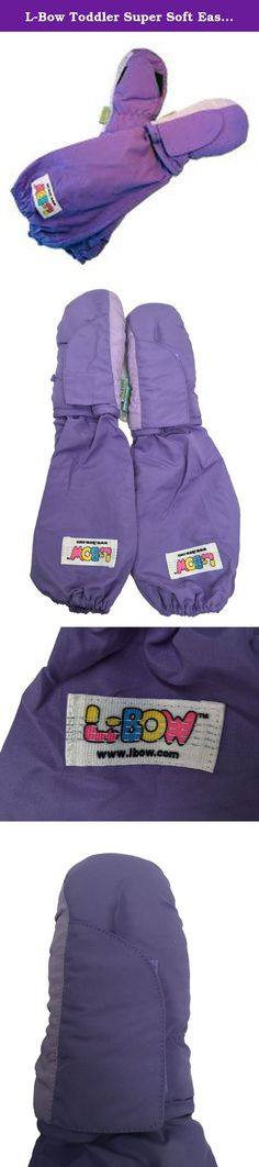 L-Bow Toddler Super Soft Easy Entry Cold Weather Waterproof Elbow Length Mittens, Lavendar, (Size 2-4T). L-Bow MittensÊtake over where ordinary mittens leave off. With our unique gaiter, L-Bow Mittens secure easily over the elbow and fit outside children's winter clothing. No more cold, chapped or snow-packed wrists. And L-Bow Mittens stay on without strings or clips. Small fits ages 1-3 years, medium fits ages 4-6 1/2 years.