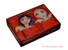 Friends  ACEO Giclee print mounted on Wood 25 x 35 by FlorLarios, $10.00