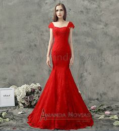 2014 New Arrival Decent Straps Mermaid Wedding Dress Real Photos vestidos de noivas