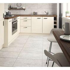 Wickes City Stone Grey Ceramic Tile 600 x Mosaic Tile Sheets, Ceramic Floor Tiles, Bathroom Floor Tiles, Tile Floor, Types Of Kitchen Flooring, Kitchen Splashback Tiles, Exterior Tiles, Grey Tiles, Upstairs Bathrooms