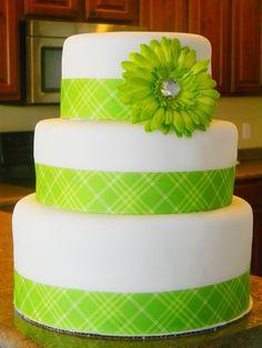 Lime Green Birthday Cake