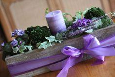 DIY Pretty Purple Spring Centerpiece for #SpringDinnerParties