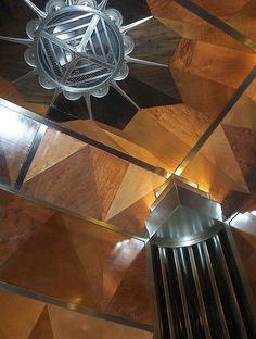 roof inside an elevator, Chrysler Bldg