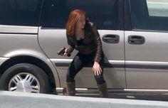 scarlett johannson on set of captain america the winter soldier photos   Scarlett Johansson in Captain America: The Winter Soldier   cleveland ...