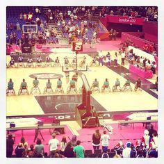 Women's wheelchair basketball #paralympics #london2012 Mexico v France