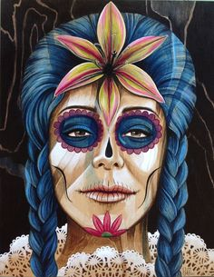 The Day of the Lily, a Day of the Dead inspired work, by Patrushka.