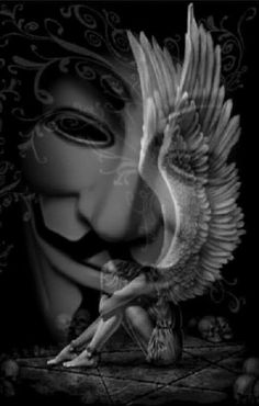 Angel Devil Tattoo, Angel And Devil, Cartoon Wallpaper Hd, Joker Wallpapers, V Pour Vendetta, Scary Quotes, Anonymous Mask, Ghost Rider Marvel, Hacker Wallpaper