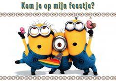 Uitnodiging kinderfeestje Minions (Kaartland wenskaarten)