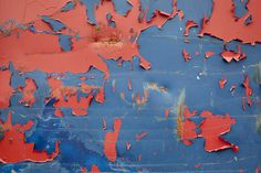 Charlie Ferguson sees the scrapes, scratches, rust and peeling paint on trash dumpsters as random artistic abstractions Peeling Paint, Contemporary Photography, Art Boards, Composition, Texture, Abstract, Artist, Painting, Surface Finish