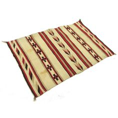 """Antique Navajo Rug with Crosses and Feathers 4'3"""" x 2'10"""""""