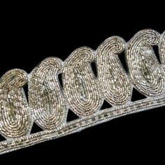 Silver metallic zardosi thread and silver tube by ColourCocoon