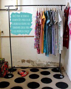 A dica de hoje é para quem quer organizar as roupas que não cabem dentro do armário!Com alguns elementos que muitas vezes temos em casa, dá pra fazer uma arara de roupas para improvisar durante um tempo e assim organizar melhor as suas coisas sem precisar gastar muito. PS: A pessoa que fez esse DIY …