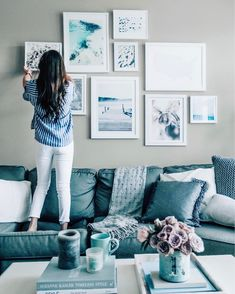 "1,456 Likes, 41 Comments - Shelby | Pretty in the Pines (@prettyinthepines) on Instagram: ""The living room was in need of some spring vibes  so I added a few new pieces of @minted artwork…"""