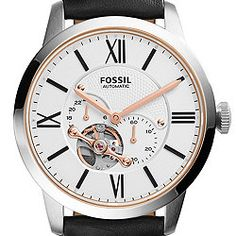 Townsman Automatic Black Leather Watch - Fossil - ME3104P $195.00