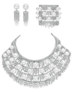 "A suite of diamond and pearl ""frost"" jewelry by House of Taylor. Elizabeth Taylor collection, Christie's."