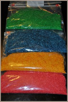 FOR MY TEACHER FRIENDS!                 How to Color Rice for Craft Projects