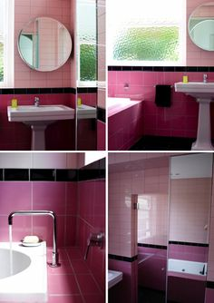 retro bathroom.