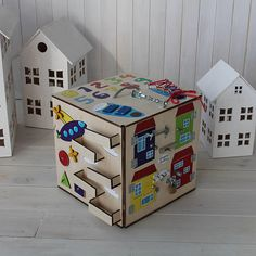 Busybox Busy Board Wooden toys Activity Board Sensory