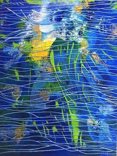 """"""" Water Fairy"""" Acrylic on canvas 30"""" x 40 """""""