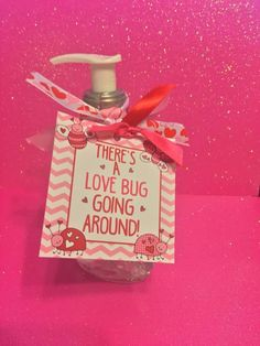 cool Items similar to Valentines Love Bug Hand Sanitizer Great Gift for Teachers, Co-Workers Friends! on Etsy