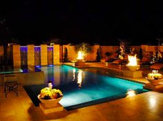 gorgeous pool, fountains, jacuzzi, fire pits, and landscaping by Blue Pacific Pools, check out our website for more! http://www.bluepacificpools.com/index.html