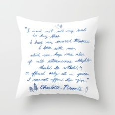 Jane Eyre Quote Throw Pillow